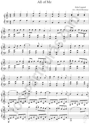 Partitura de Piano Fácil de All of Me de John Legend Easy Sheet Music for Piano Beginners All of Me Music score