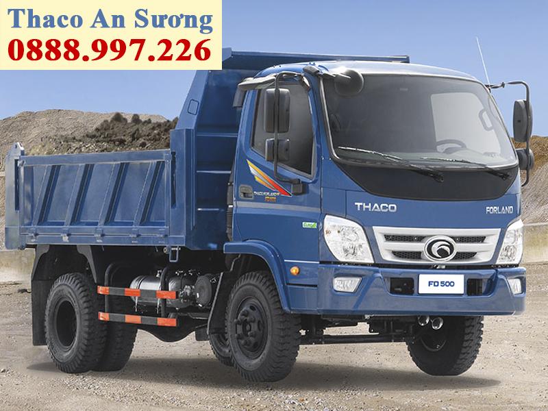 xe ben forland thaco FD500.E4 tải trọng 4,99 tấn, thùng 4,1 khối