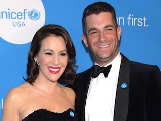 Dave Bugliari with his wife Alyssa Milano