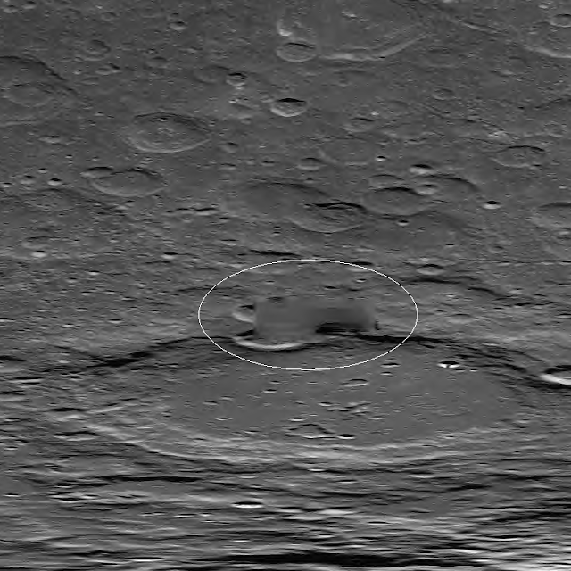 NASA regularly blurs or pastes out structures on the Moon.