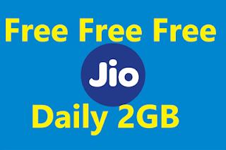 Jio Daily 2GB Data Free August 2019