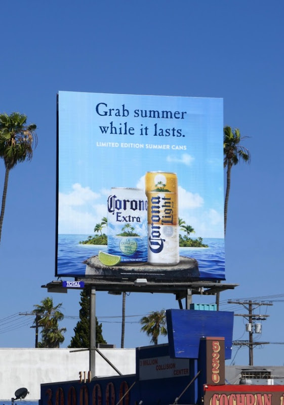 Grab summer while it lasts Corona special edition can billboard