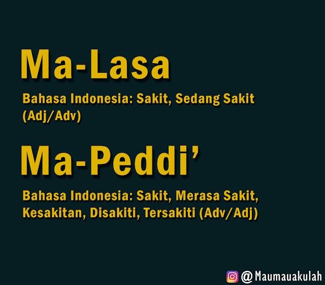 Bugis Pick: Ma-peddi' dan Ma-lasa