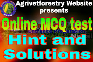 hint and solution of Online MCQ quiz-01 Agrivetforestry entrance