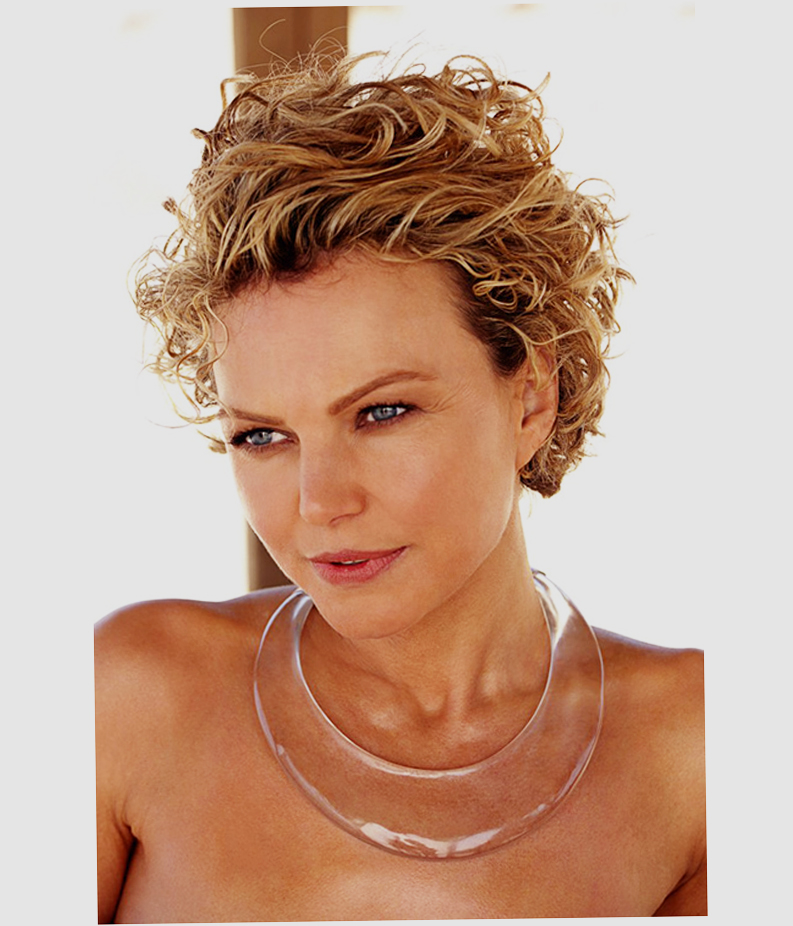 Short Hairstyles For Round Faces Curly Hair