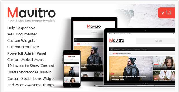 Mavitro Template Blogger Magazine Keren