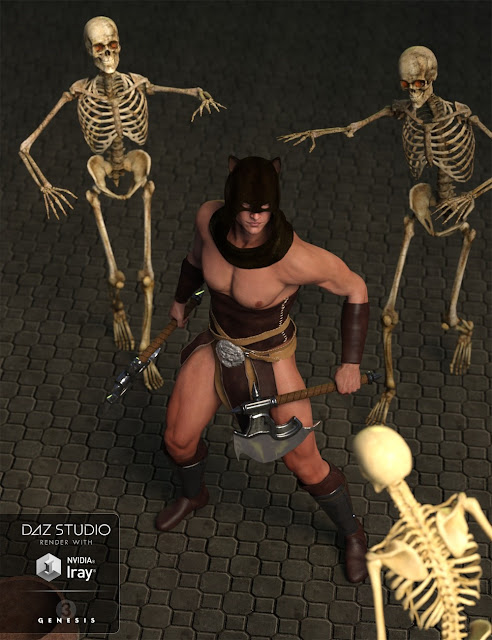 AQ Barbarian for Genesis 3 Male