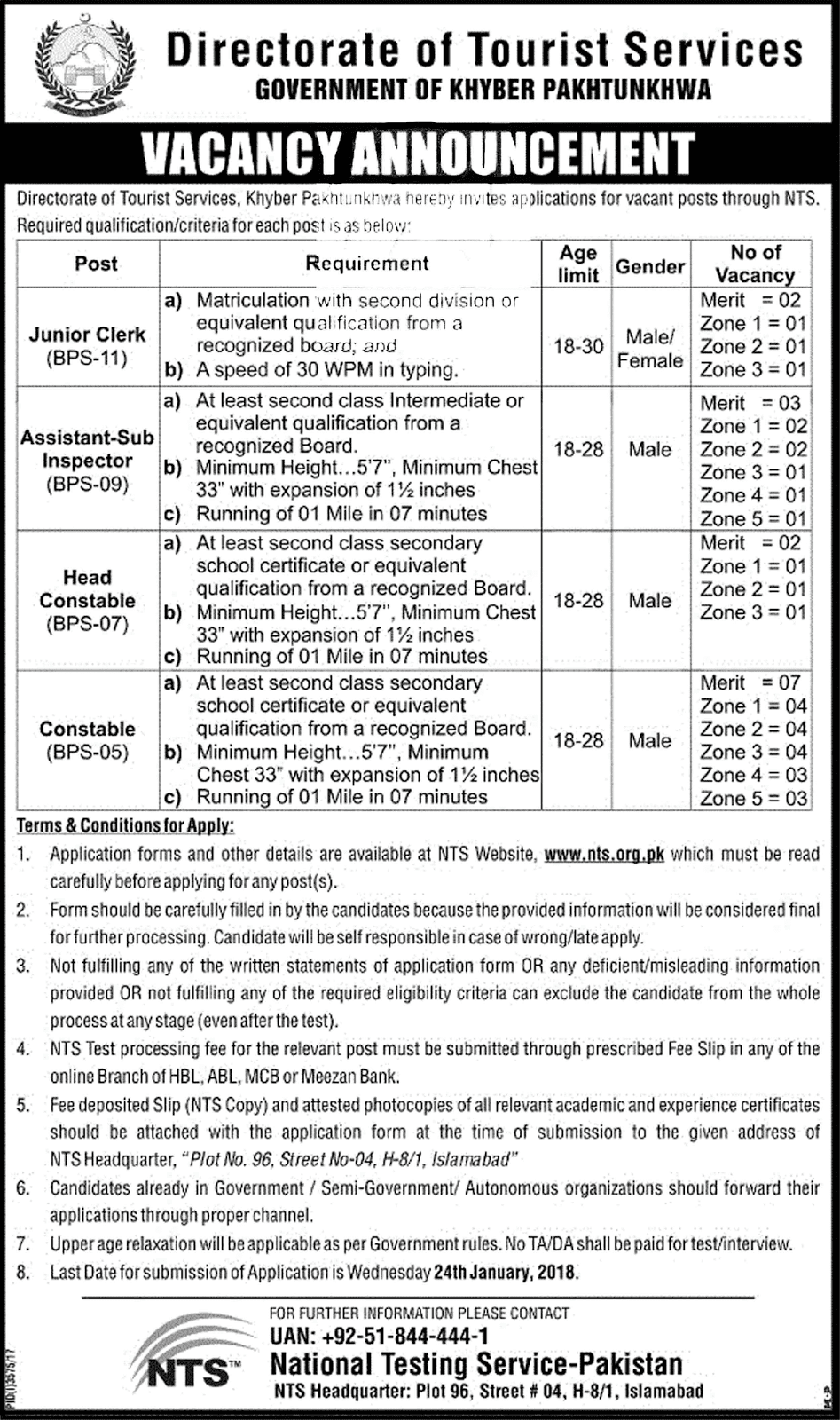 Jobs In Tourism Corporation Khyber Pakhtunkhwa