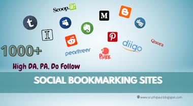 1000+ High DA, PA, PR Social Bookmarking Sites List Do follow - [Updated]