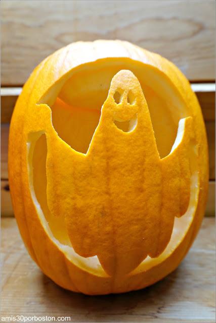 Calabaza Halloween Diseño Fantasma