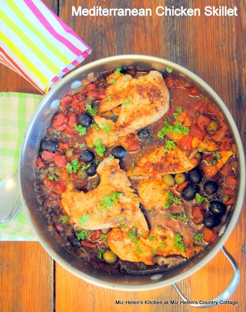 Mediterranean Chicken Skillet at Miz Helen's Country Cottage