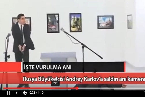 Video: Polisi Turki Tembak Mati Dubes Rusia
