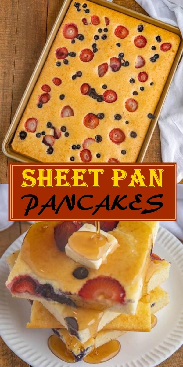 SHEET PAN PANCAKES #breakfastideas