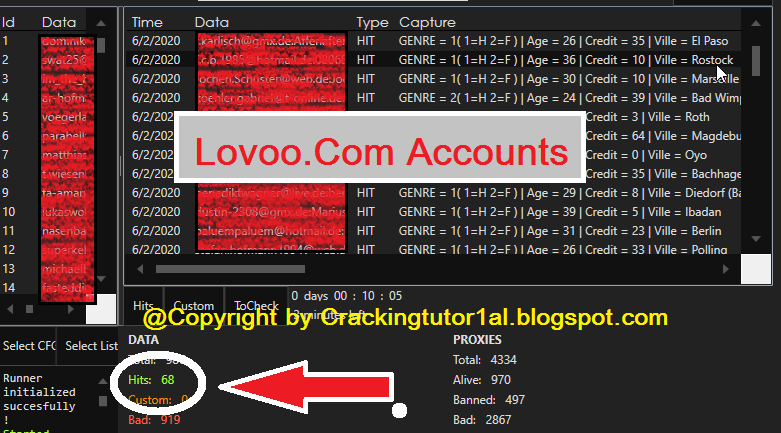 Lovoo.Com 68x Accounts Private With Subscriptions (Gender