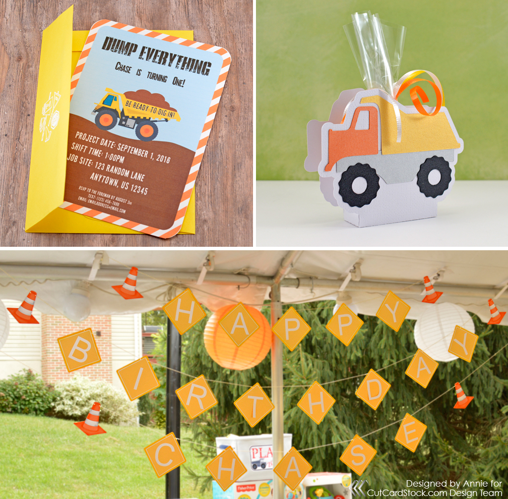 Construction zone party decor cutcardstock for Decoration zone