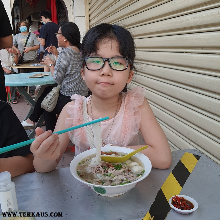Chulia Street Night Hawker Stalls Duck Meat Kway Teow Soup