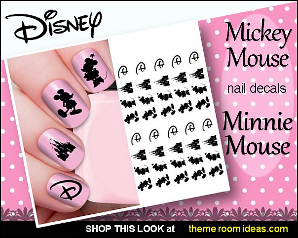 Cartoon Pink Mouse nails Minnie Mouse Backdrop nail design Pink Polka Dots Party nails minnie mouse Happy Birthday