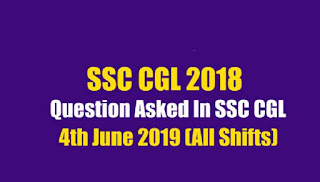 Questions asked in SSC CGL Exam