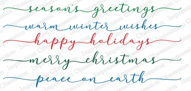 Winter Greetings long sentiments for slimline holiday cards
