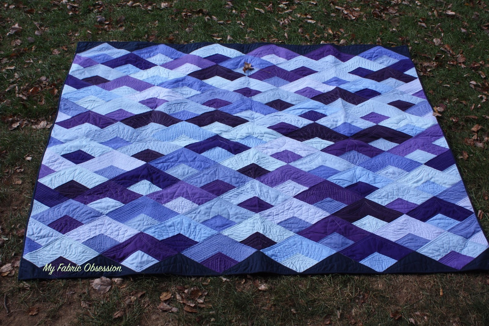 My Fabric Obsession Boomerang Quilt