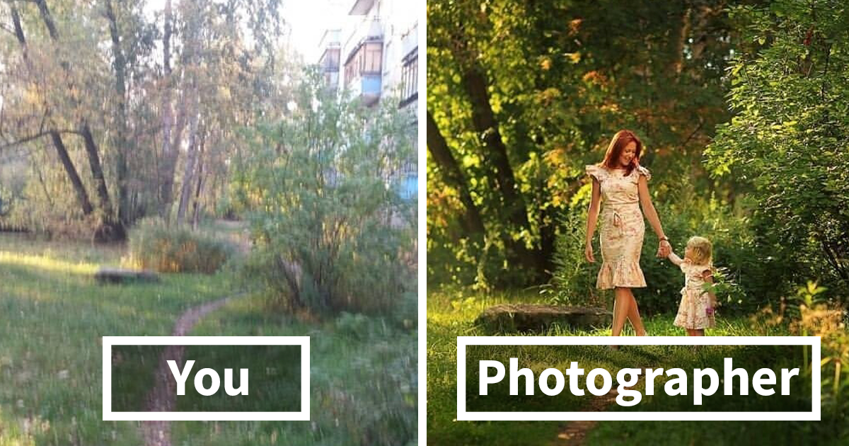 Pictures That Illustrate The Difference Between Common And Professional Photoshoots