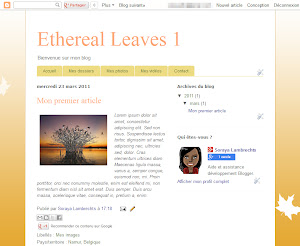 Ethereal Leaves 1 Theme