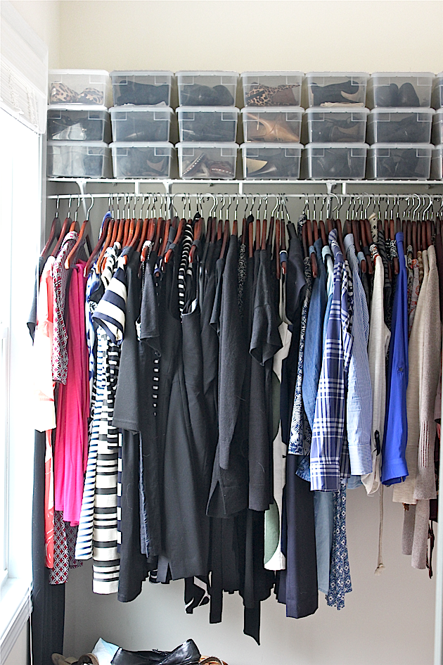 How I Keep My Builder Grade Closet Organized