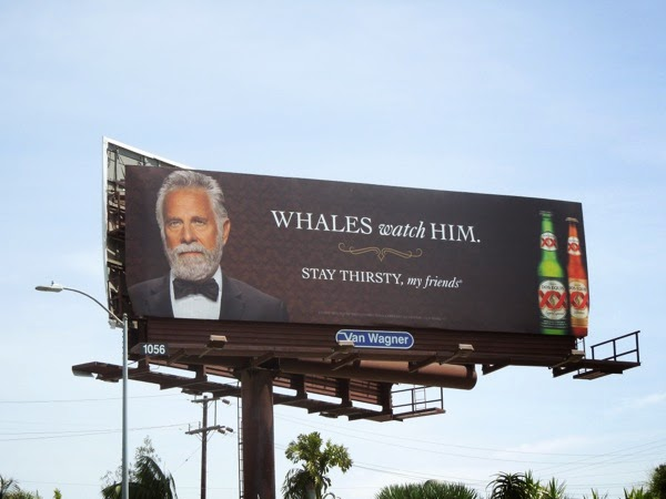 Dos Equis Whales watch him billboard