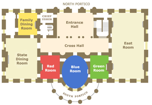 Peeking White House Floor Plan - AyanaHouse