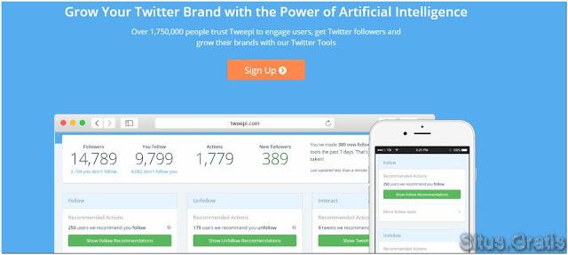 Tweepi membantu Anda mendapatkan lebih banyak pengikut di Twitter
