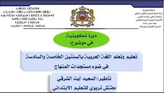تعليم وتعلم اللغة العربية بالسنتين الخامسة والسادسة في ضوء مستجدات المنهاج