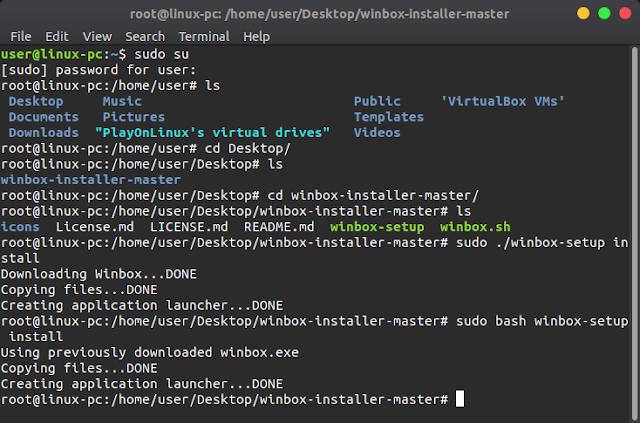 Cara install winbox di linux (mikrotik)