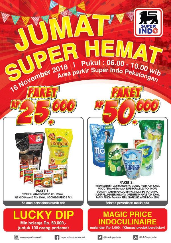 Superindo - Promo Event Jumat Super Hemat di Superindo Pekalongan (16 Nov 2018)