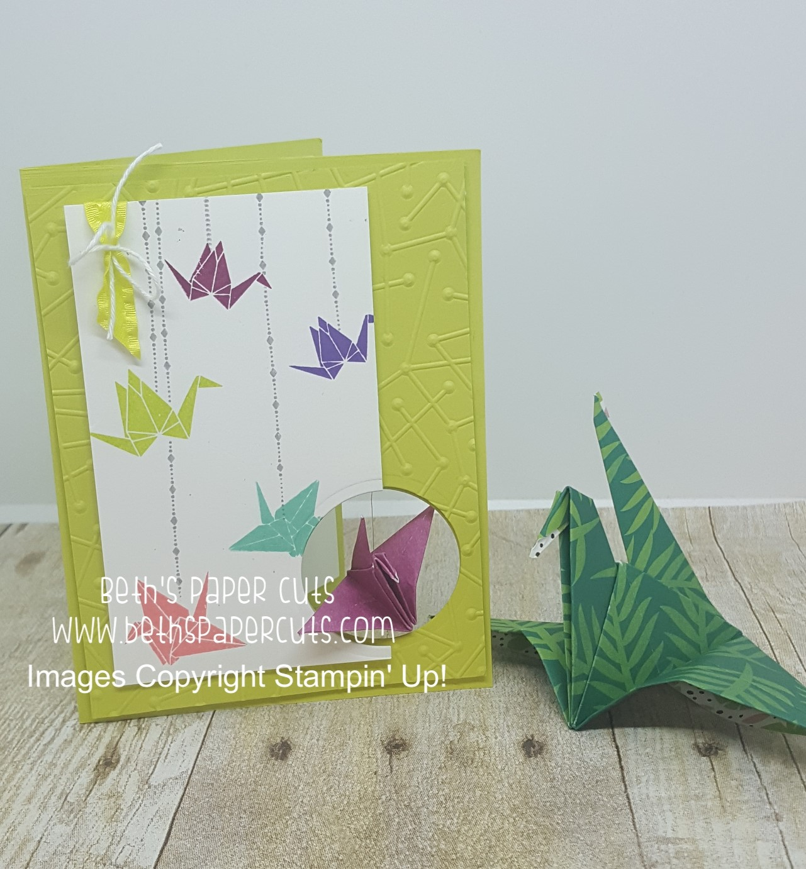 Make this easy origami crane card | 1382x1281