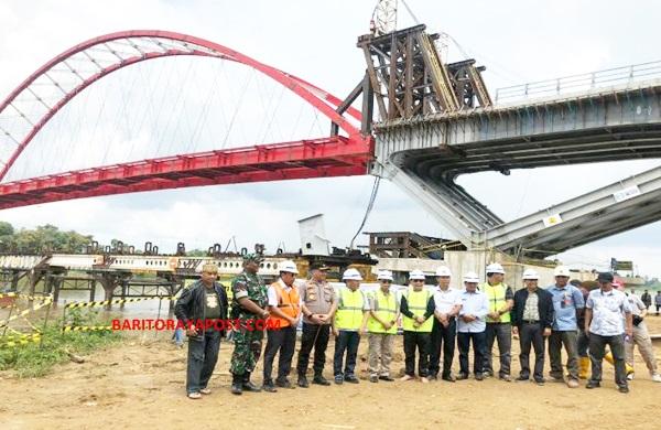 Gubernur Kalteng Tinjau Proyek Jembatan Tumbang Samba