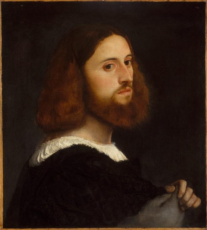 Portrait of a Man Artist Titian (Custom)