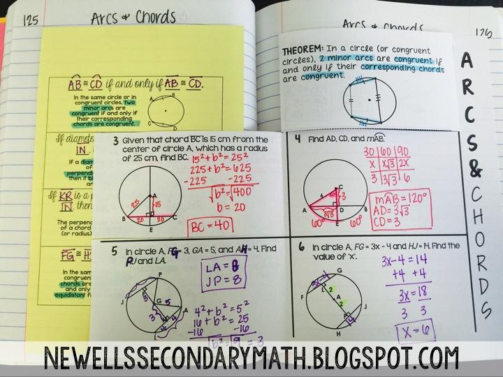 Arcs And Chords Mrs Newells Math
