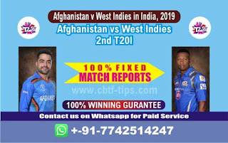Who will win Today 2nd T20, Match WI vs AFGH , Cricket Win Tips