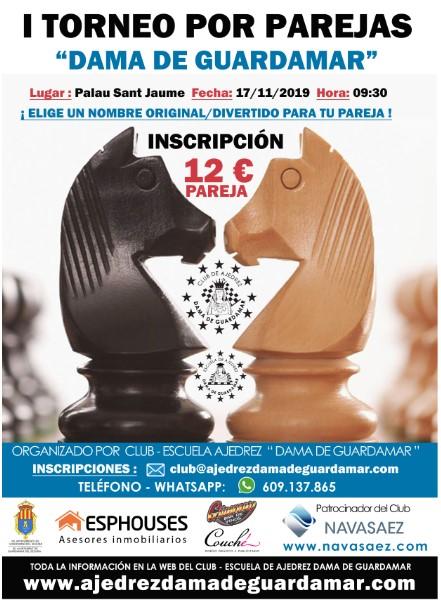 17 noviembre, Torneo por parejas Dama de Guardamar
