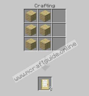 How To Make Birch Door In Minecraft