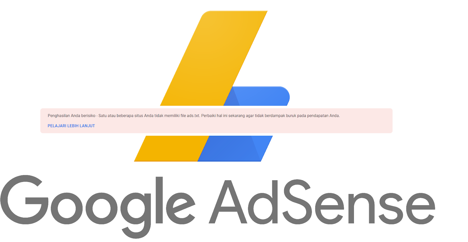 """cara mengatasi """"Penghasilan Anda berisiko - Satu atau beberapa situs Anda tidak memiliki file ads.txt"""""""