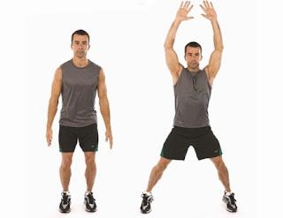 gerakan jumping jacks, olahraga di rumah, gerakan lompat, olahraga exercise, olahraga, olahraga jumping jack, health, fitness, work out