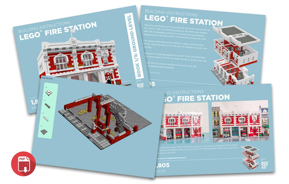 Bricktoyco Custom Lego Fire Station Moc Instructions