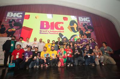 Ganhadores reunidos no palco do BIG. Sexta, dia 28.  - Crédito da foto: @Claudio Rossi