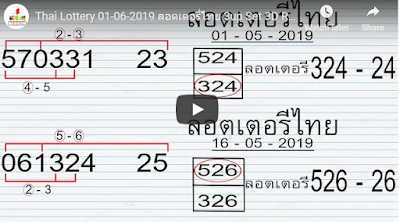 Thai Lottery 01 June 2019 ลอตเตอรี่ไทย 3up Set Saudi Arabia