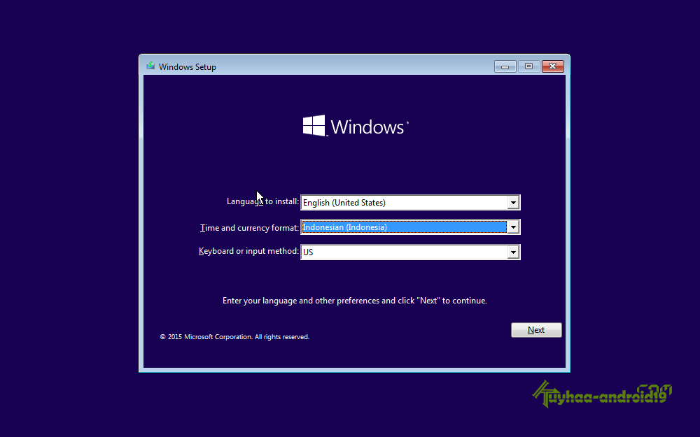 Install windows 10 kuyhaa