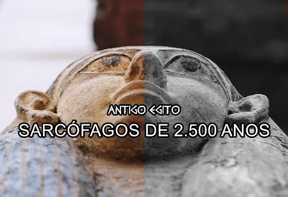 Sarcófagos descobertos no Egito em 2020