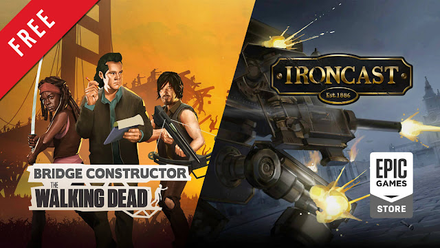 bridge constructor the walking dead ironcast free pc game epic games store indie strategy simulator roguelike turn-based strategy game clockstone software headup dreadbit games ripstone