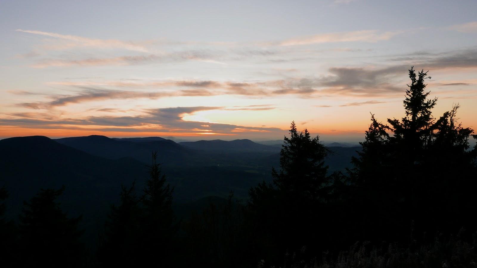 Lysa hora zachod slonca, lysa hora zapad slunce