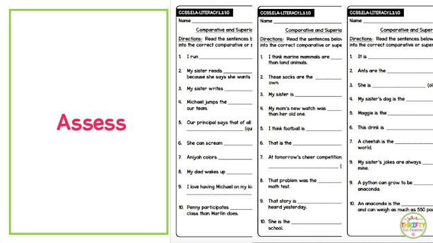 Quick and effect way to assess your students' knowledge on comparative adjectives and superlative adjectives.